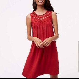 Loft crochet top dress